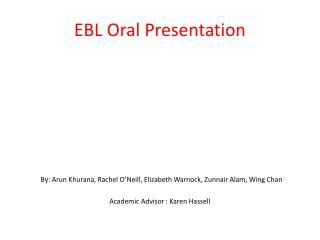 EBL Oral Presentation