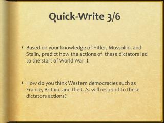 Quick-Write 3/6