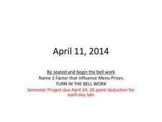 April 11, 2014