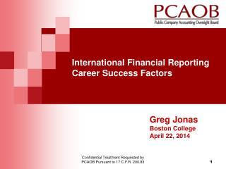 International Financial Reporting Career Success Factors