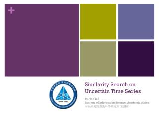 Similarity Search on Uncertain Time Series
