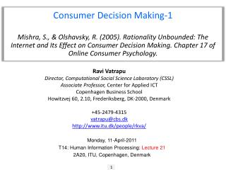 Consumer  Decision  Making-1