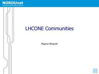 LHCONE Communities