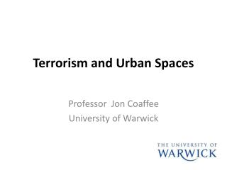Terrorism and Urban Spaces