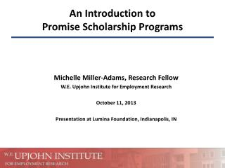 An Introduction to Promise Scholarship Programs