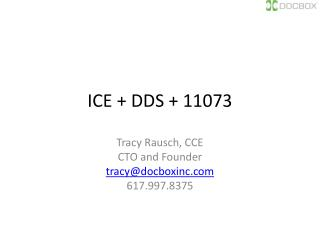 ICE  + DDS + 11073