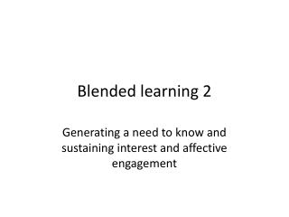 Blended learning 2