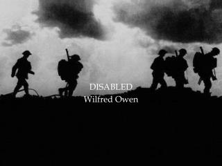 DISABLED Wilfred Owen