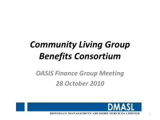 Community Living Group Benefits Consortium