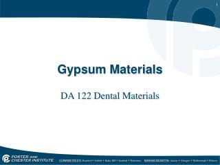Gypsum Materials