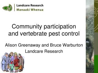 Community participation and vertebrate pest control