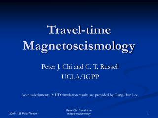 Travel-time Magnetoseismology