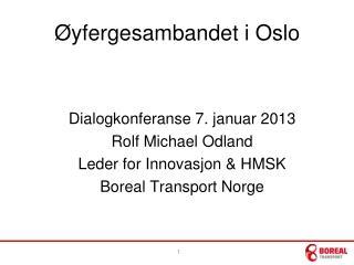 Øyfergesambandet  i Oslo