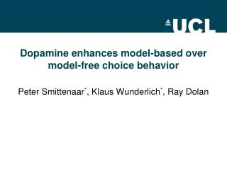 Dopamine enhances model-based over model-free choice  behavior