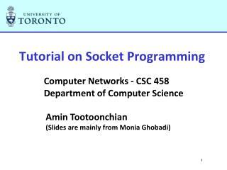 Tutorial on Socket Programming