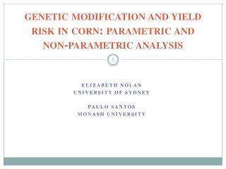 genetic modification and yield risk in corn: parametric and non-parametric analysis