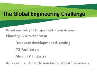 The Global Engineering Challenge