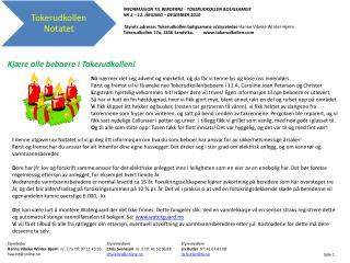INFORMASJON TIL BEBOERNE - TOKERUDKOLLEN BOLIGSAMEIE NR  2  – 12. ÅRGANG –  DESEMBER 2010