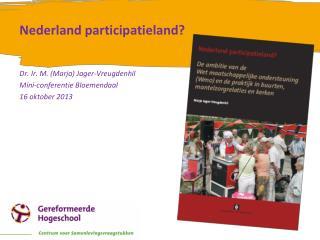 Nederland participatieland?