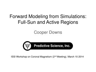 Forward Modeling from Simulations:  Full -Sun and Active Regions