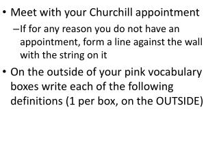 Meet with your Churchill appointment