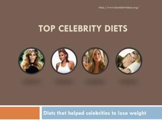 Top Celebrity Diets