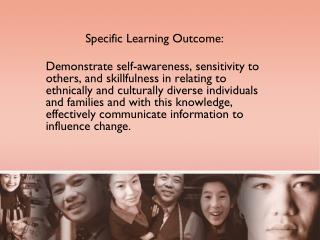 Specific Learning Outcome: