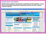 Klik Koleksi Digital UKM pada Laman Web Perpustakaan ukm.my
