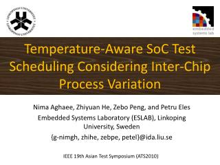 Temperature-Aware SoC Test Scheduling Considering Inter-Chip Process Variation