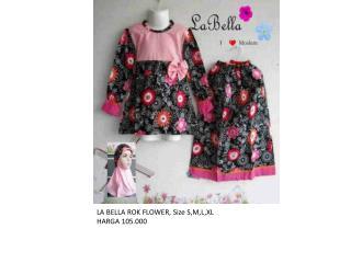 LA BELLA ROK  FLOWER , Size S,M,L,XL HARGA  105.000