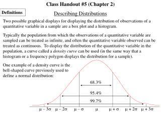 Class Handout #5 (Chapter 2)