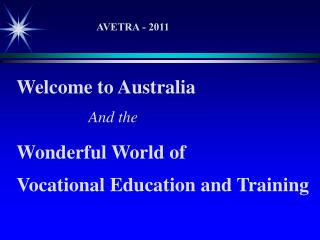 Welcome to Australia And the