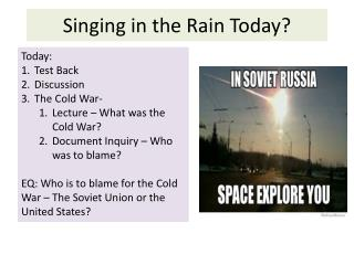 Singing in the Rain Today?