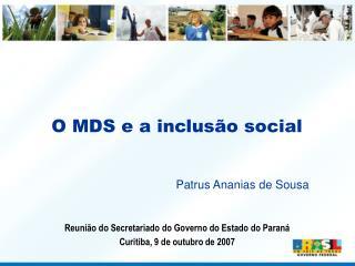 O MDS e a inclus o social