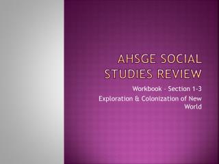 AHSGE Social Studies Review
