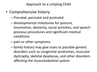 Approach to a Limping Child
