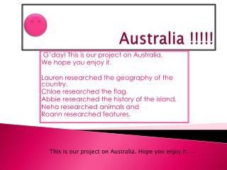 Australia !!!!!