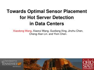 Towards Optimal Sensor Placement for Hot Server Detection  in Data Centers