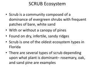 SCRUB Ecosystem