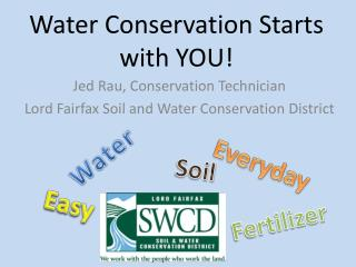 Water Conservation Starts with YOU!