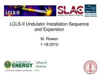 LCLS-II Undulator Installation Sequence and Expansion