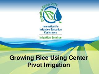 Growing Rice Using Center Pivot Irrigation
