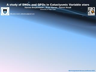 A study of DNOs and QPOs in Cataclysmic Variable stars