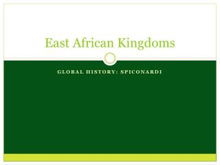 East African Kingdoms
