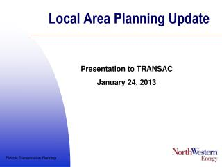 Local Area Planning Update
