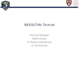 REXIS/TiNi Telecon