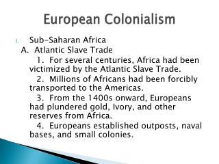 European Colonialism