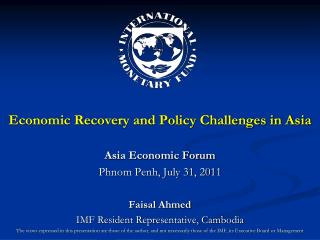 Economic Recovery and Policy Challenges in Asia