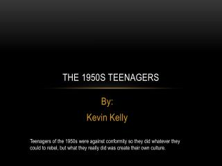 The 1950s Teenagers