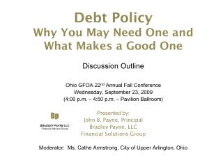 Debt Policy Why You May Need One and What Makes a Good One